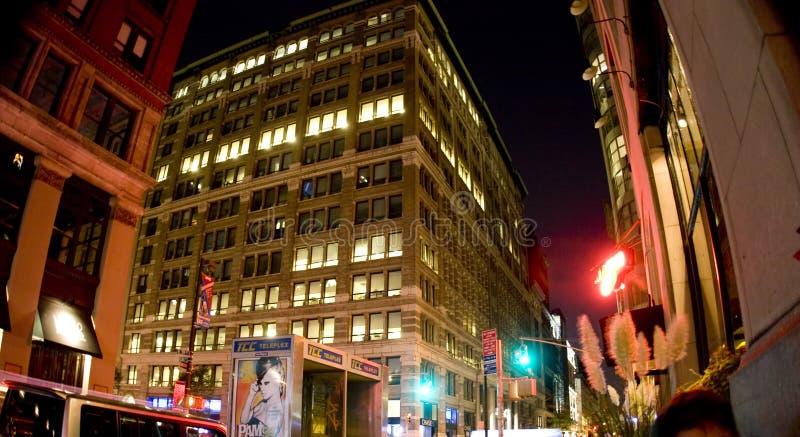 大厦晚上 免版税库存照片