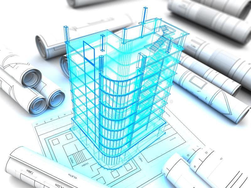 大厦模型 库存例证