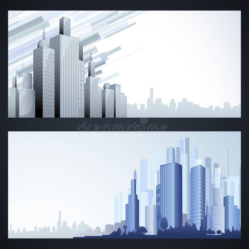 大厦模板 向量例证