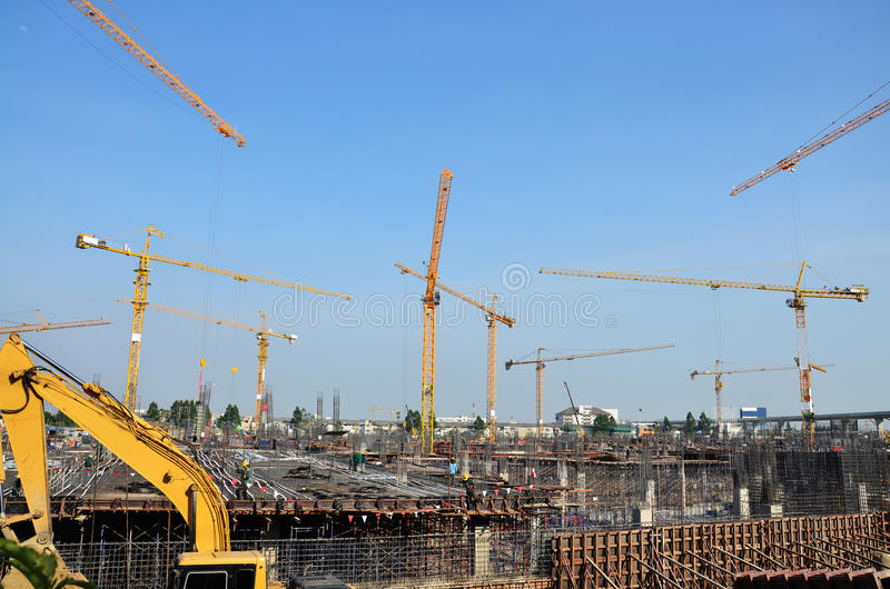 大厦泰国的企业建筑 免版税库存图片