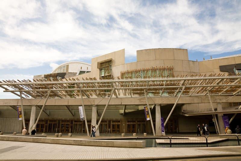 大厦爱丁堡议会苏格兰人 免版税库存图片