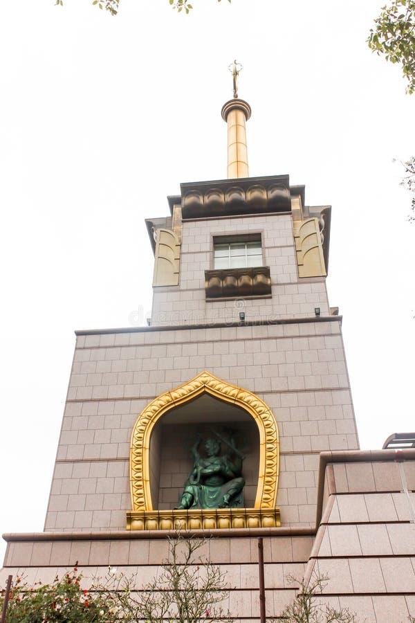 大厦特写镜头在钟Tai陈修道院在台湾 免版税库存照片