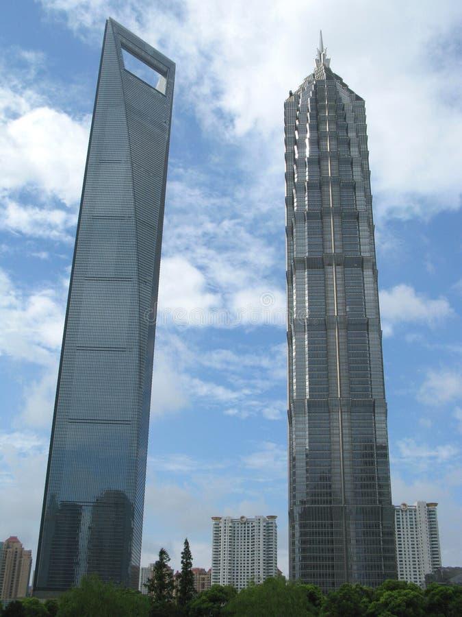 大厦现代企业的城市 免版税库存照片