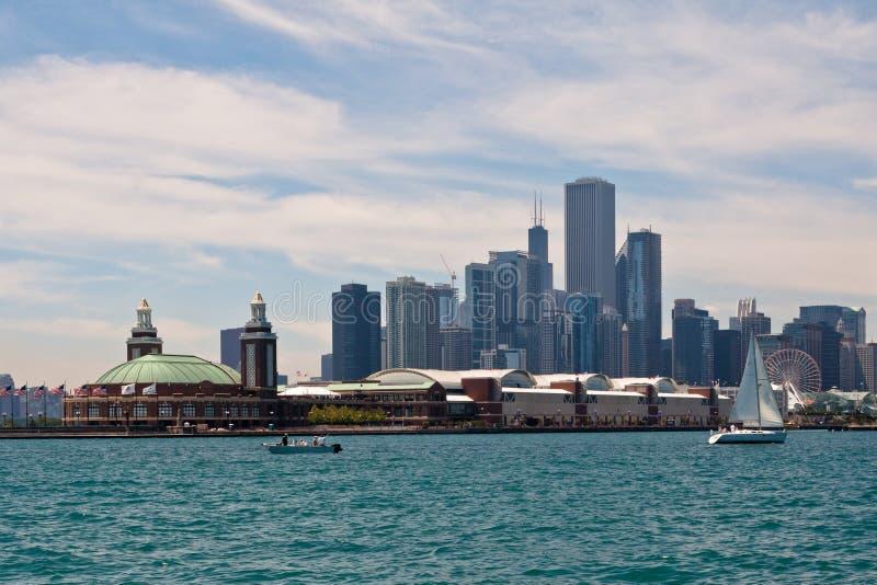 大厦现代的芝加哥 图库摄影