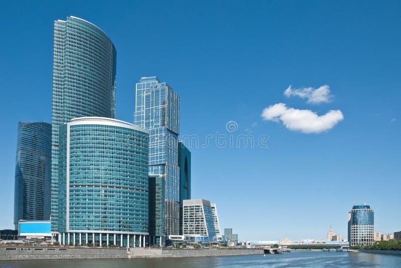 大厦现代莫斯科办公室 库存图片