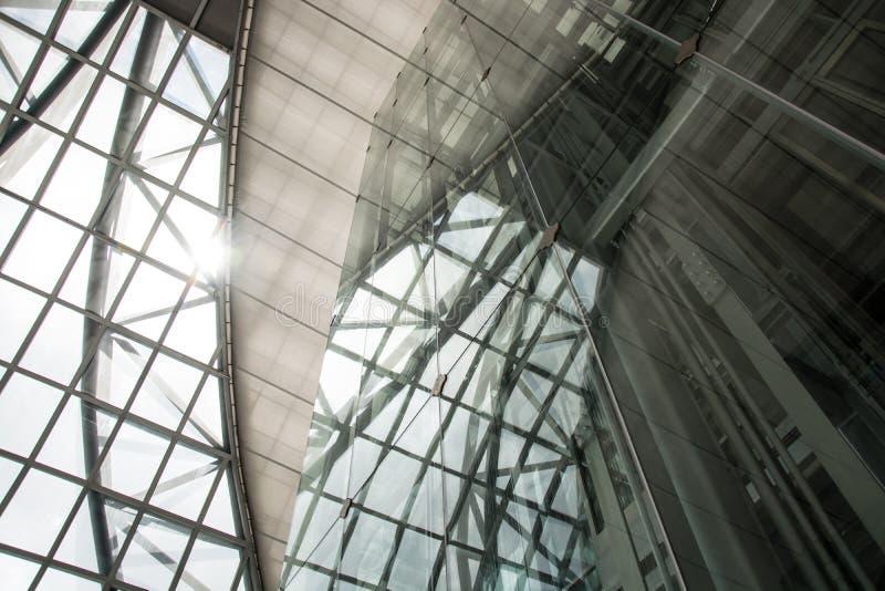 大厦电梯未来派现代 免版税库存图片