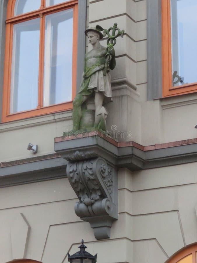 大厦的建筑装饰在里加 免版税库存照片