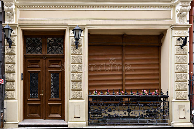 大厦的片段在斯堪的纳维亚现代派样式的 免版税库存图片