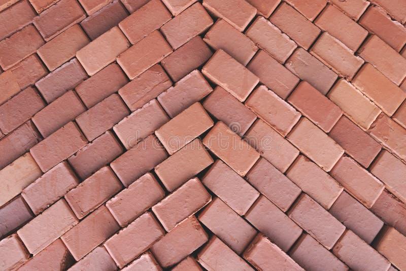 大厦砖红色修造的砖纹理折叠了 免版税图库摄影