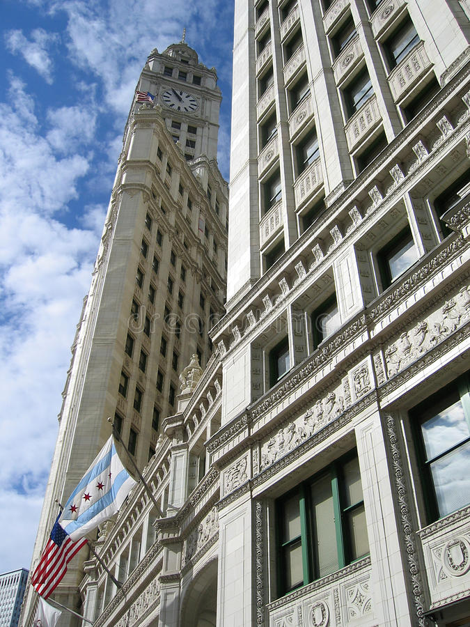 大厦芝加哥里格利 免版税库存图片