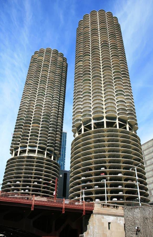 大厦芝加哥高层 库存图片
