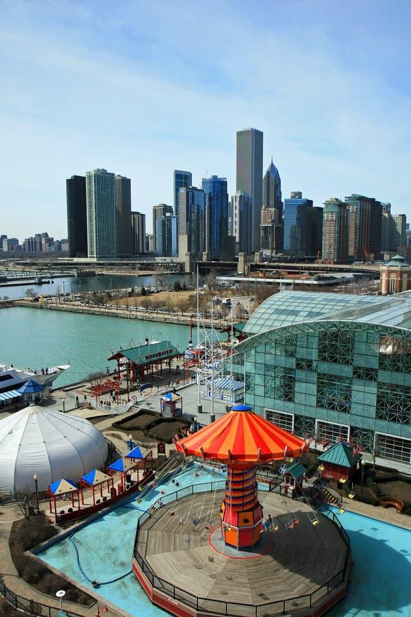 大厦芝加哥高层 图库摄影