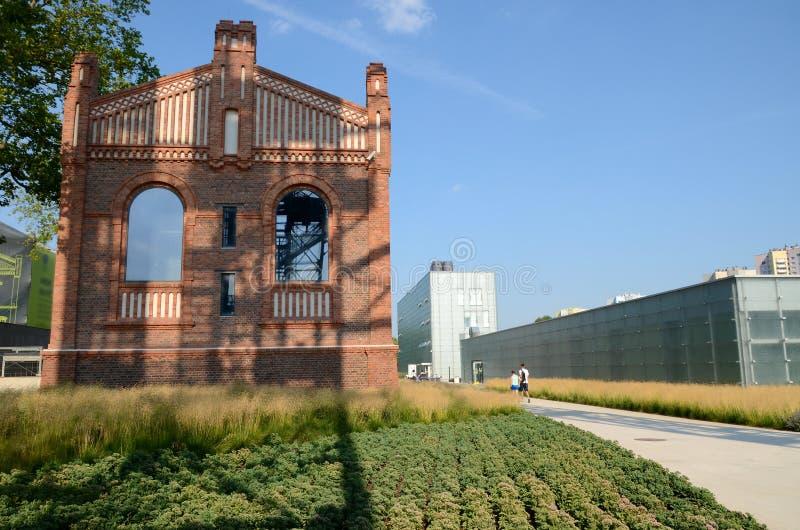 大厦西莱亚西博物馆在卡托维兹,波兰 免版税库存图片