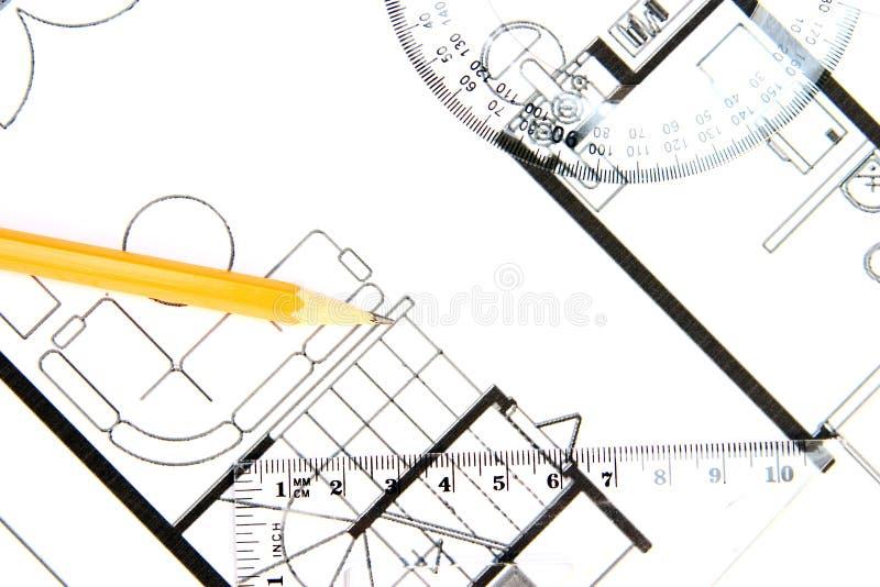 大厦计划 免版税库存图片