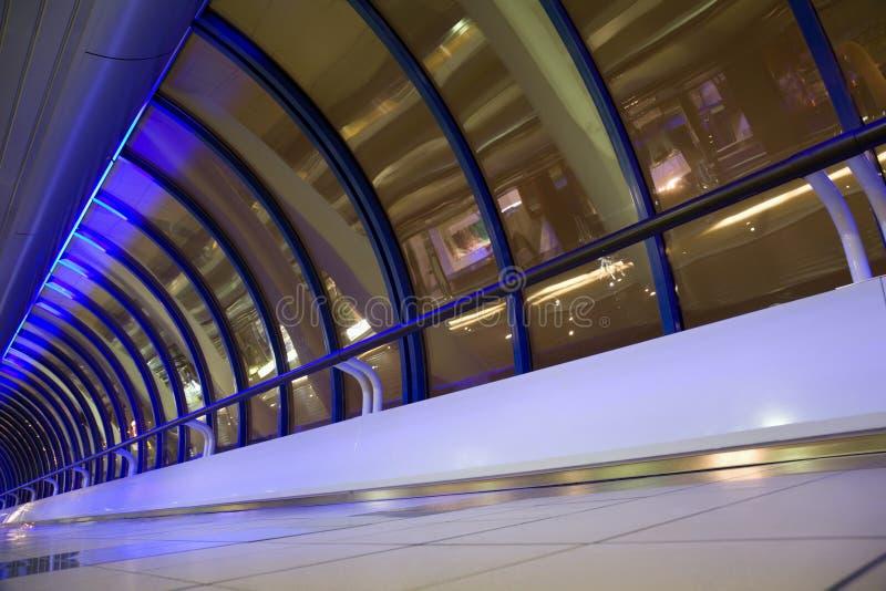 大厦走廊现代视窗 库存图片
