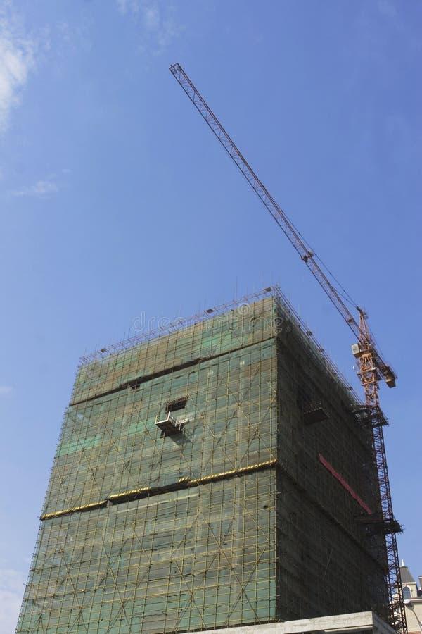 大厦起重机 免版税图库摄影