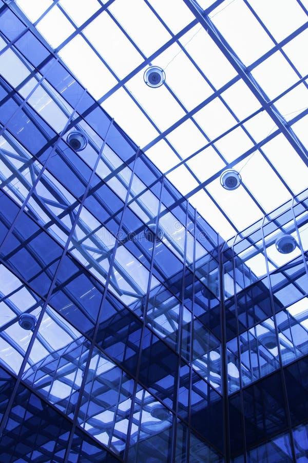 大厦透明最高限额的办公室 免版税库存图片