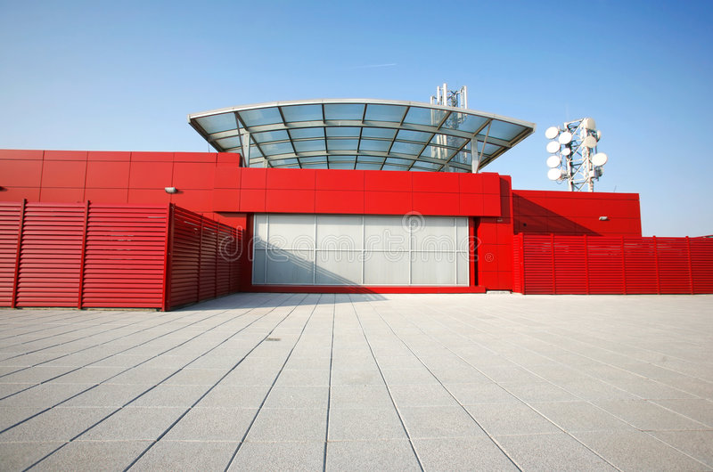 大厦透视图红色 免版税图库摄影