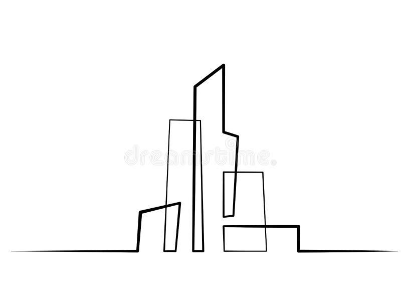 大厦都市风景线艺术剪影 皇族释放例证