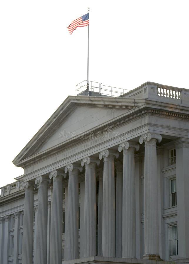 大厦金融管理系统我们 免版税库存照片