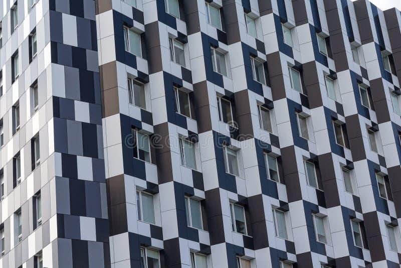 大厦门面在一个现代样式的 库存图片