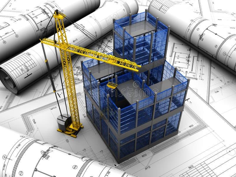 大厦项目  向量例证