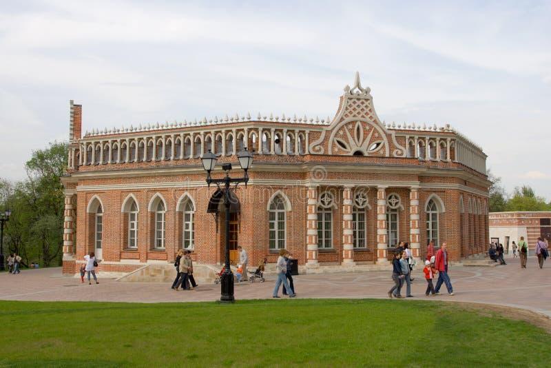 大厦骑士宫殿第二tsaritsyno 图库摄影