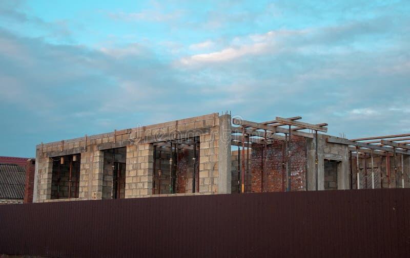 大厦,房子,砖,白色,红色,物产,空, 库存照片