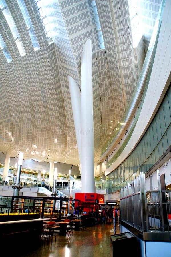 大厦,香港高铁西九龙终点 免版税库存照片