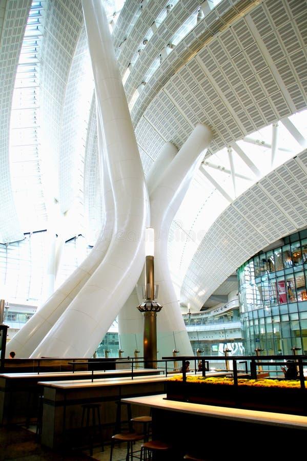 大厦,香港高铁西九龙终点 图库摄影