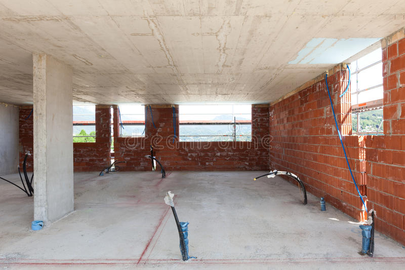 大厦,建造场所 免版税库存照片