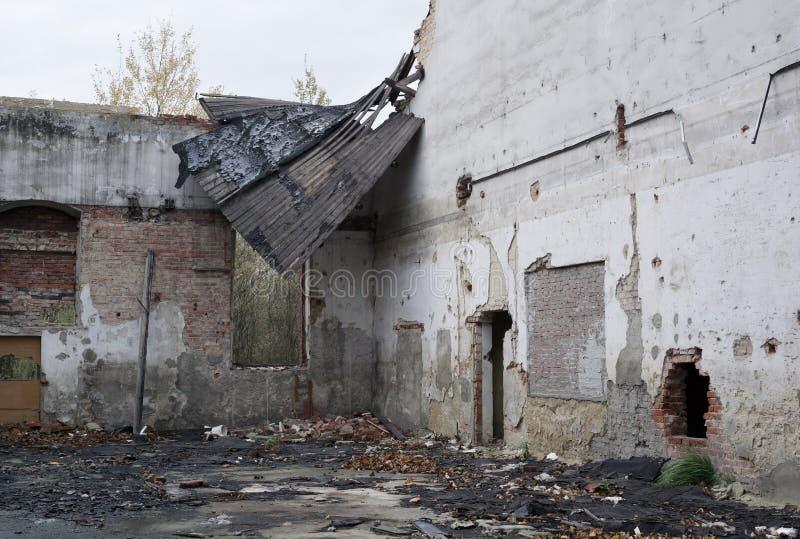 大厦破坏了 免版税库存图片