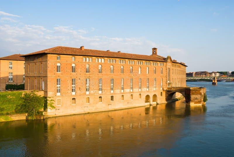 大厦garonne有历史的河 免版税图库摄影