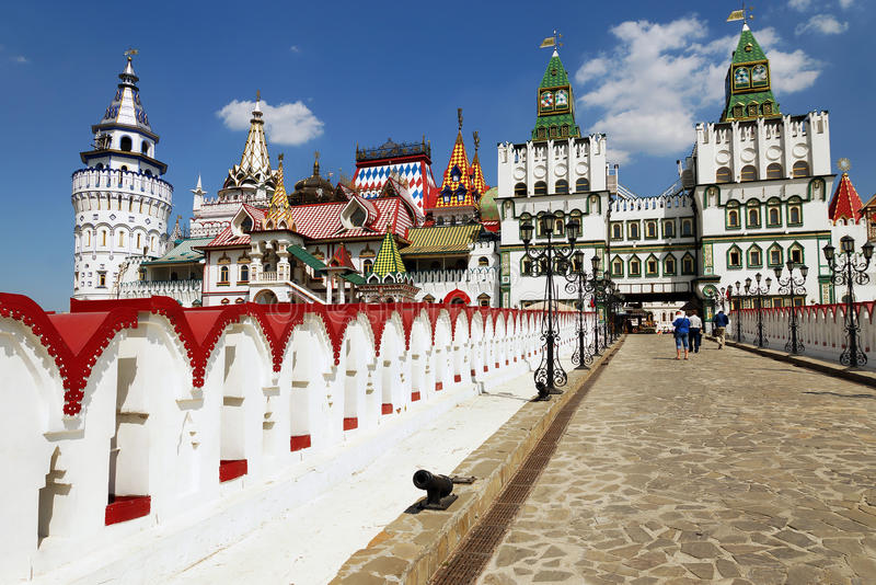 大厦Izmailovo克里姆林宫,莫斯科,俄罗斯 免版税库存图片