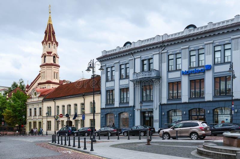 大厦Nordea Lietuva (俄国亚洲银行),维尔纽斯 免版税库存图片