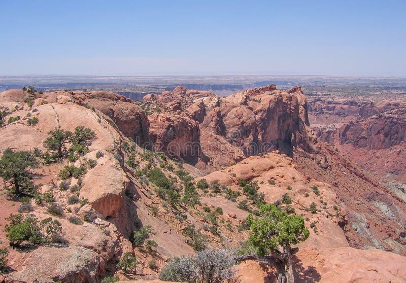 大变动圆顶在峡谷地国家公园 免版税库存照片