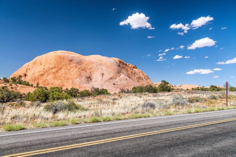 大变动圆顶路和山,过时的问题点国家公园, Ut 免版税库存图片