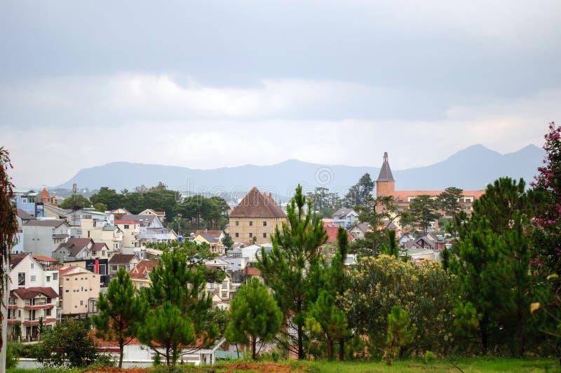 大叻山区度假村在越南,Lam Dong 免版税库存照片