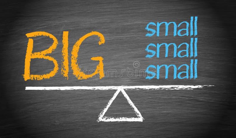 大和小型的跷跷板企业平衡概念 库存例证