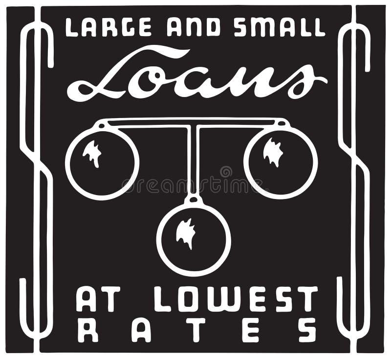 大和小额贷款 向量例证