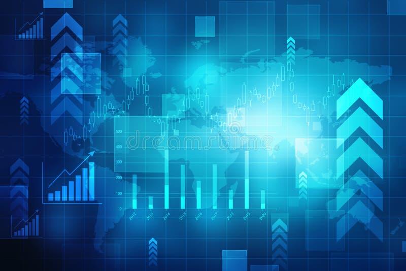 大图形市场计算股票 抽象财务背景,股票市场图 企业图表背景,财政背景 向量例证