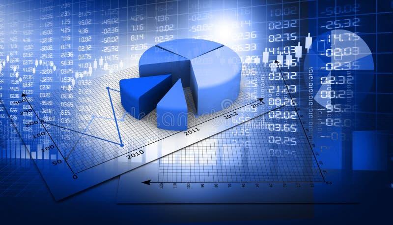 大图形市场计算股票 图库摄影