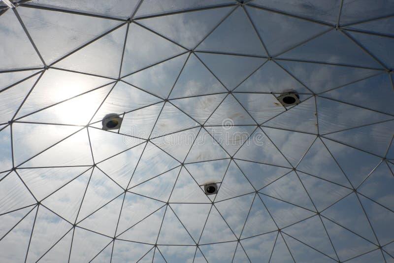 大地测量学的塑料圆顶 免版税库存图片