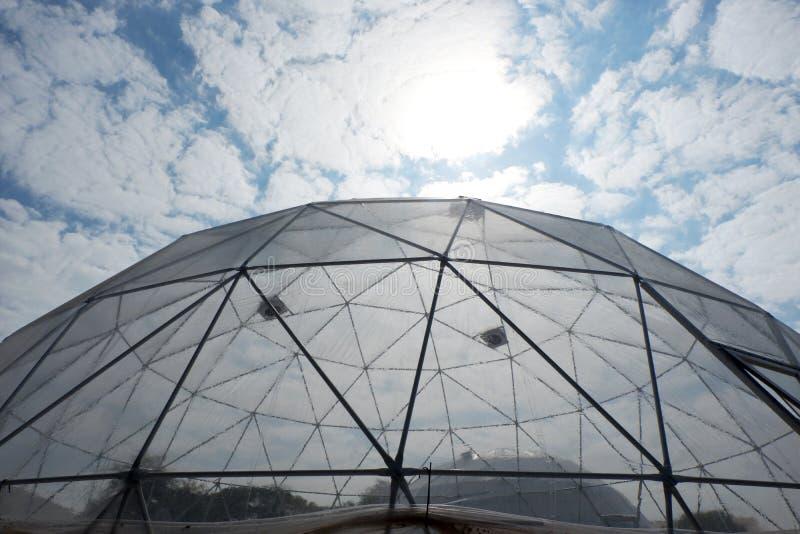 大地测量学的塑料圆顶 库存图片