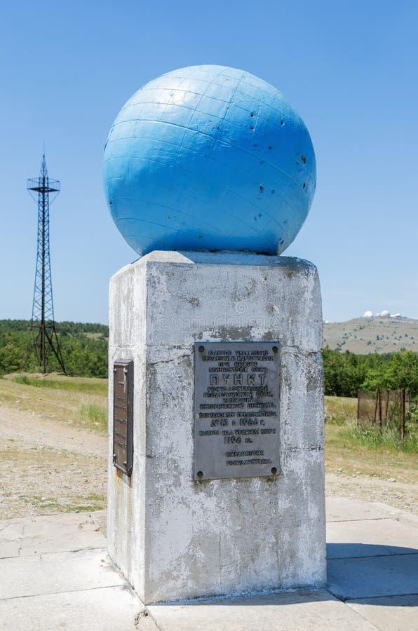 大地测量学的标志'Ai陪替氏子午线' 免版税图库摄影