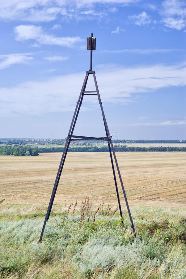 大地测量学的标记 免版税库存照片