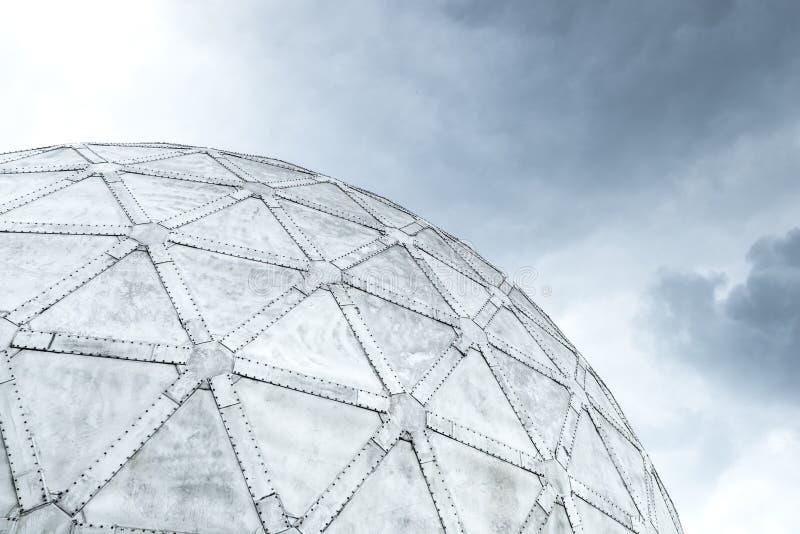 大地测量学的球形圆顶建筑学建筑设计 库存照片