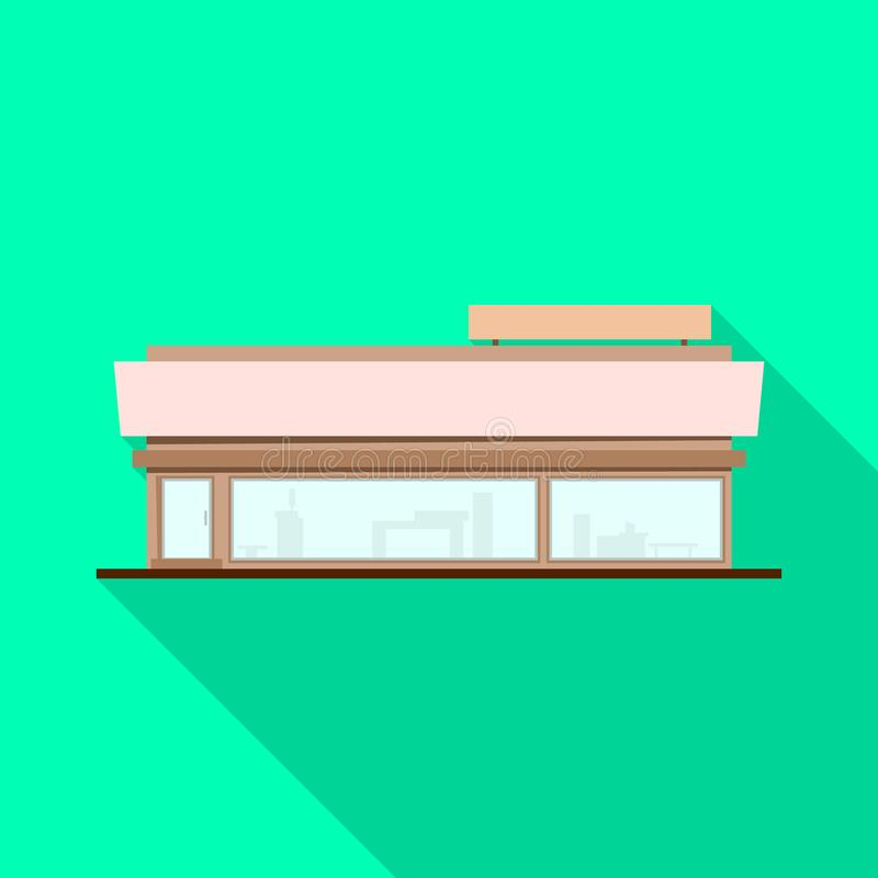 大型超级市场和商店标志被隔绝的对象  设置大型超级市场和办公室股票传染媒介例证 向量例证