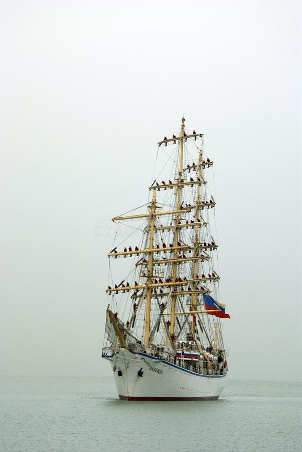 大型驱逐舰娜杰日达 图库摄影