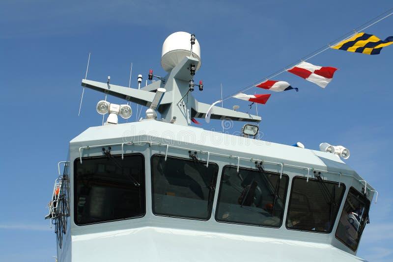 大型驱逐舰海军军舰 免版税库存照片